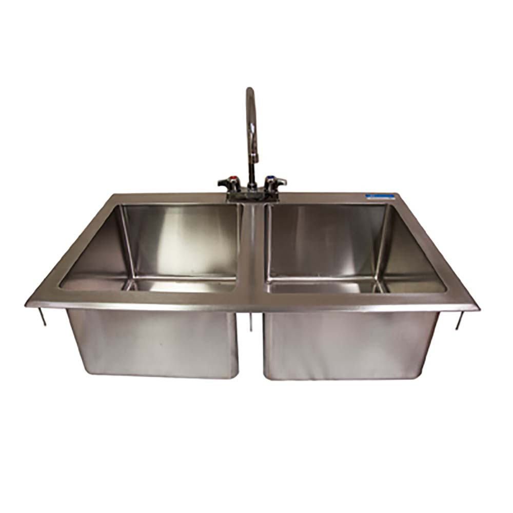 Bk resources bk dis 1416 2 p g two compartment drop in sink