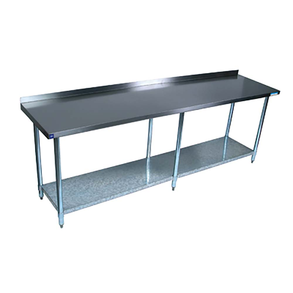 BK Resources QVTROB Stainless Steel Work Table Open Base - Stainless steel open base work table