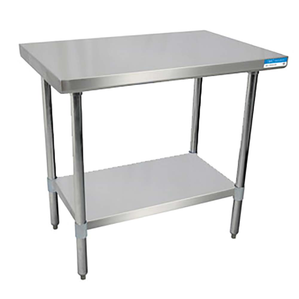 BK Resources SVT Stainless Steel Work Table Channel Reinforced - Stainless steel table 18 x 24