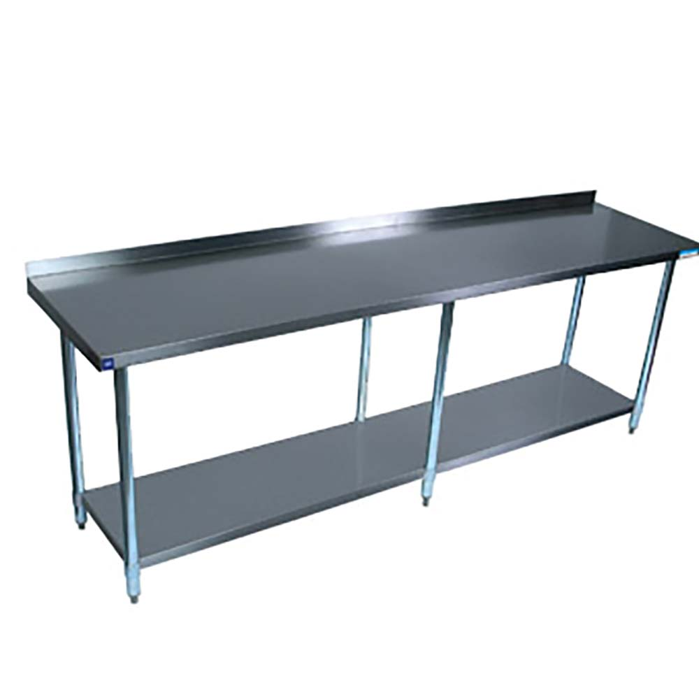 BK Resources SVTR Stainless Steel Work Table Channel Reinforced - Stainless steel table 18 x 24