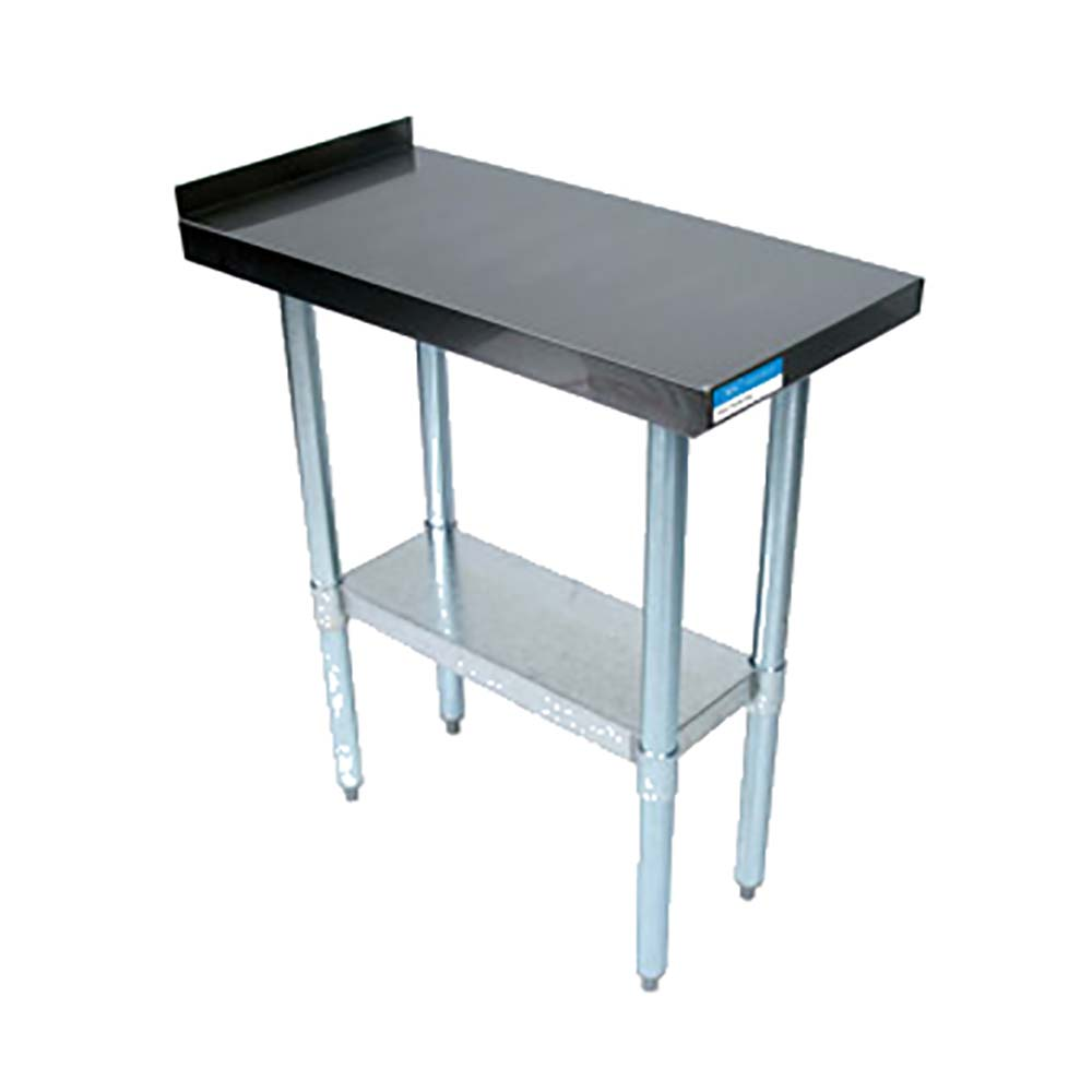 BK Resources VFTS Stainless Steel Work Table Channel Reinforced - Stainless steel work table with shelves