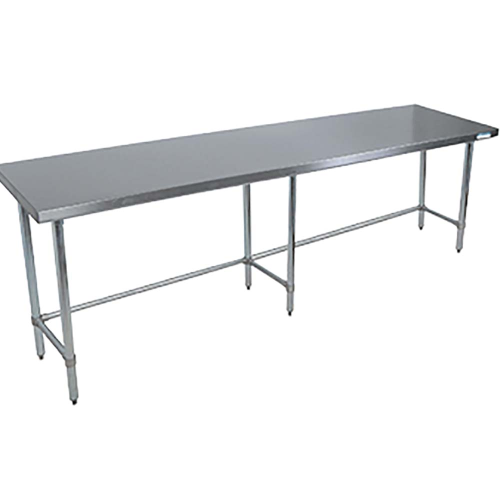 BK Resources VTTOB Stainless Steel Work Table Open Base - Stainless steel table 18 x 24