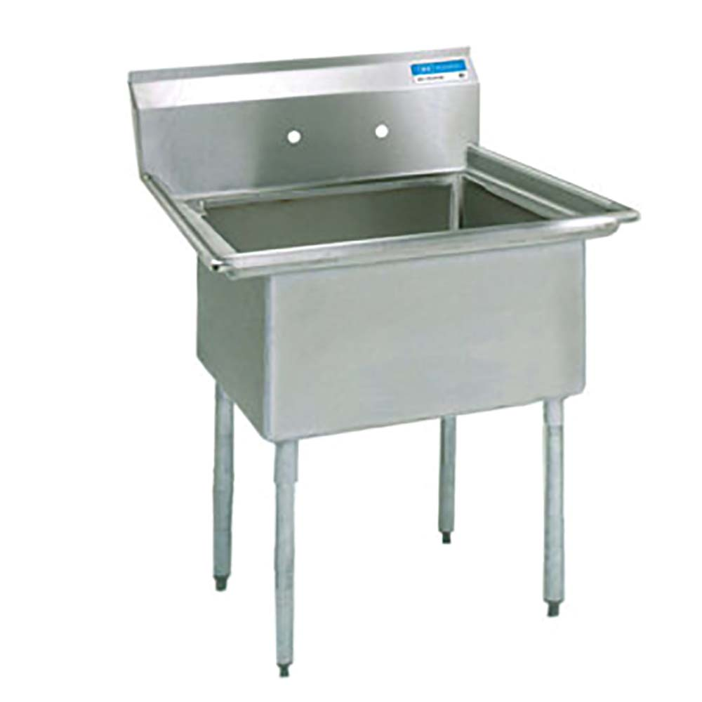 BK Resources BKS 1 18 12   Commercial Stainless Steel Sink Without Drain
