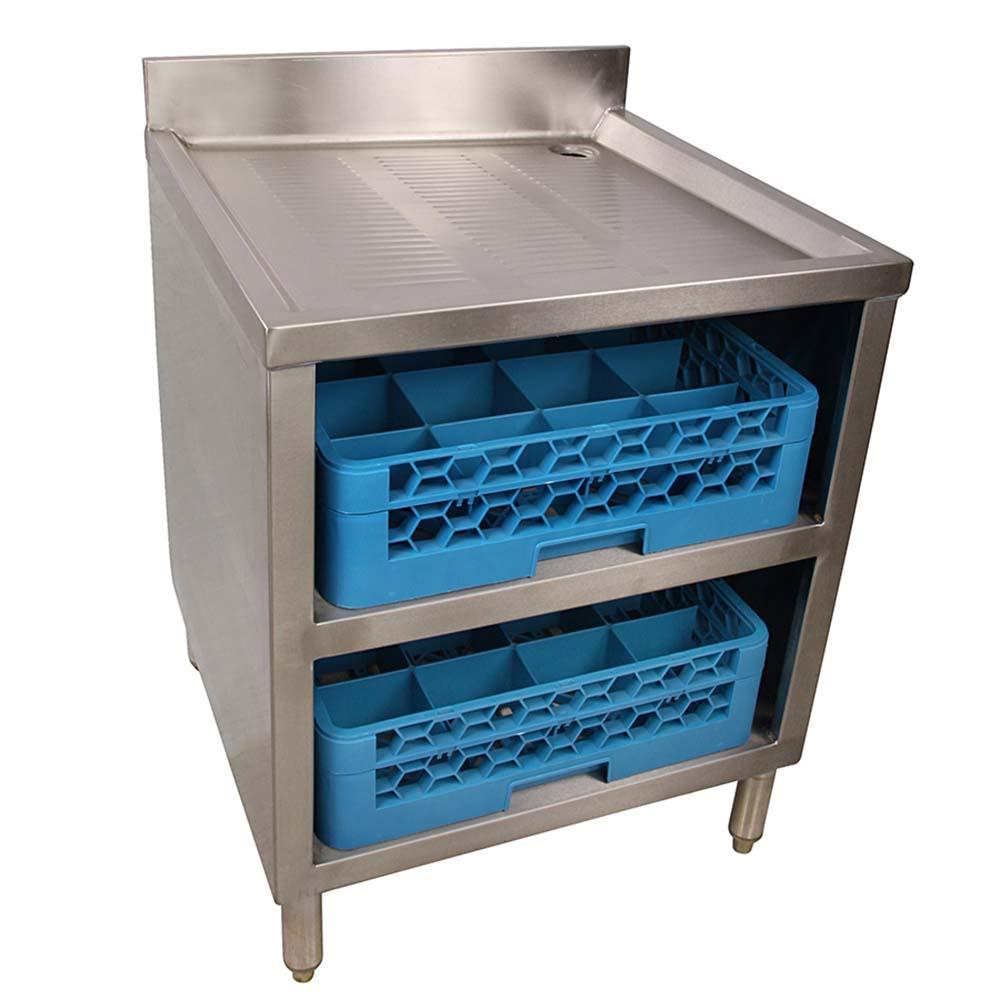 BK Resources BKUBGC-241 Underbar Glass Rack Storage Unit Drainboard ...