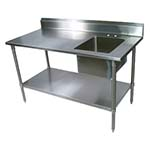 BK Resources BKPT 3060G R   Prep Table, With Sink, 60 Inch Part 59