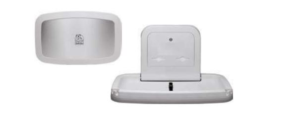 kb200 01ss bobrick baby changing station wall mount 35 inch w - Baby Changing Station