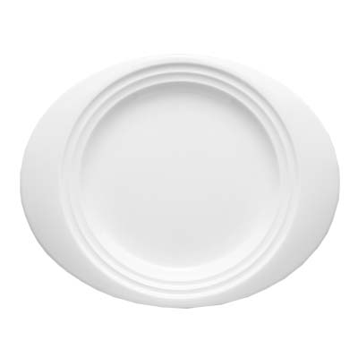 Bon Chef 1000018P - Dinner Plate 12-17/20 x 10-7/20 in. oval wide rim ...  sc 1 st  JES Restaurant Equipment & Chef 1000018P - Dinner Plate 12-17/20 x 10-7/20 in. oval wide rim ...