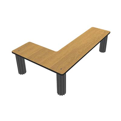 Bon Chef 50215lvcherry Flex Table Top Shelf 48 X 12 Inch Corner Cherry