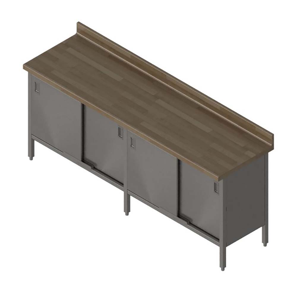 John Boos Ebsw7r4 30120 Work Table Cabinet W Sliding
