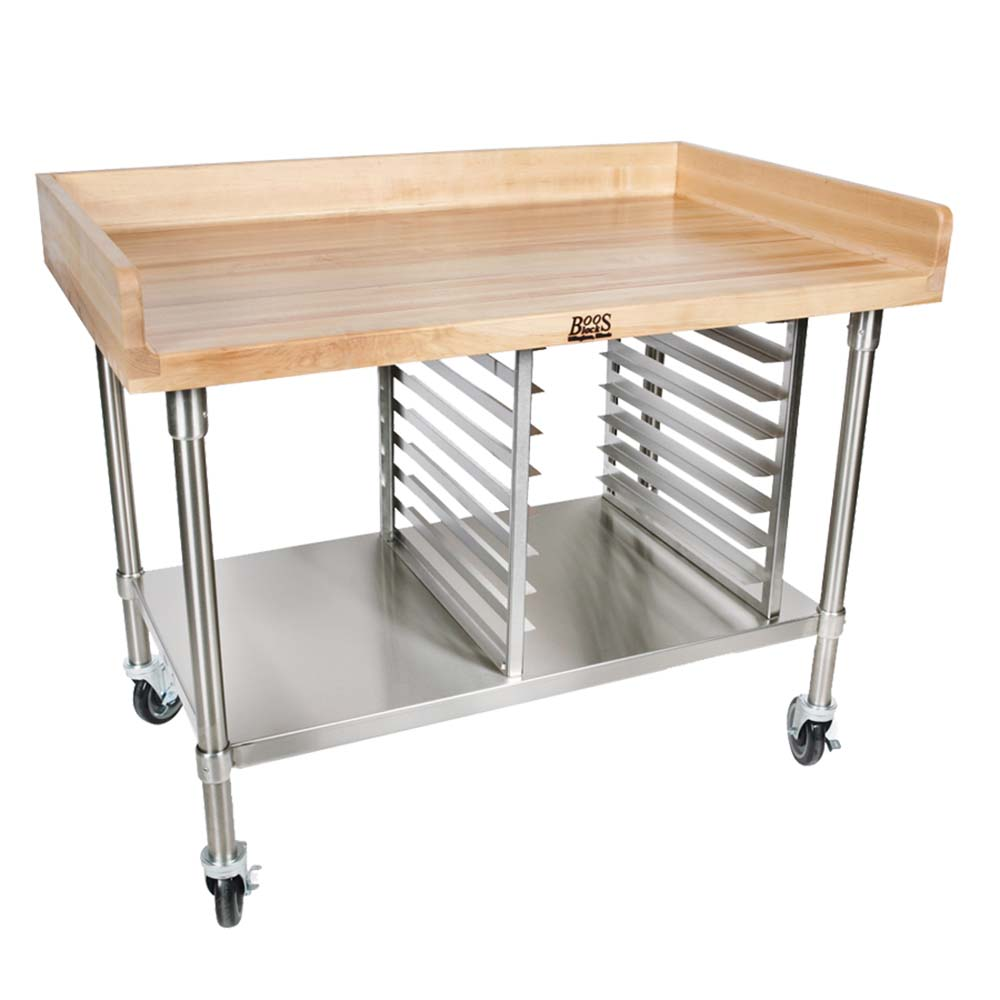 surprising Boos Prep Table Part - 13: John Boos BAK03 - Bakery Prep Table, 72 x 30 inch, 1-3