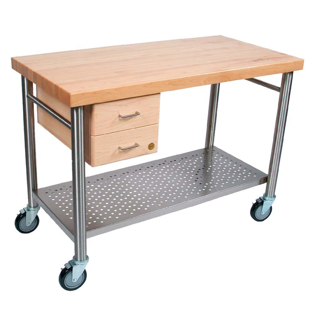 "Cucina 4 X 4 john boos cucic04 - cucina magnifico work table, 48 x 24 x 35 inch, 2-1/4""  maple top"