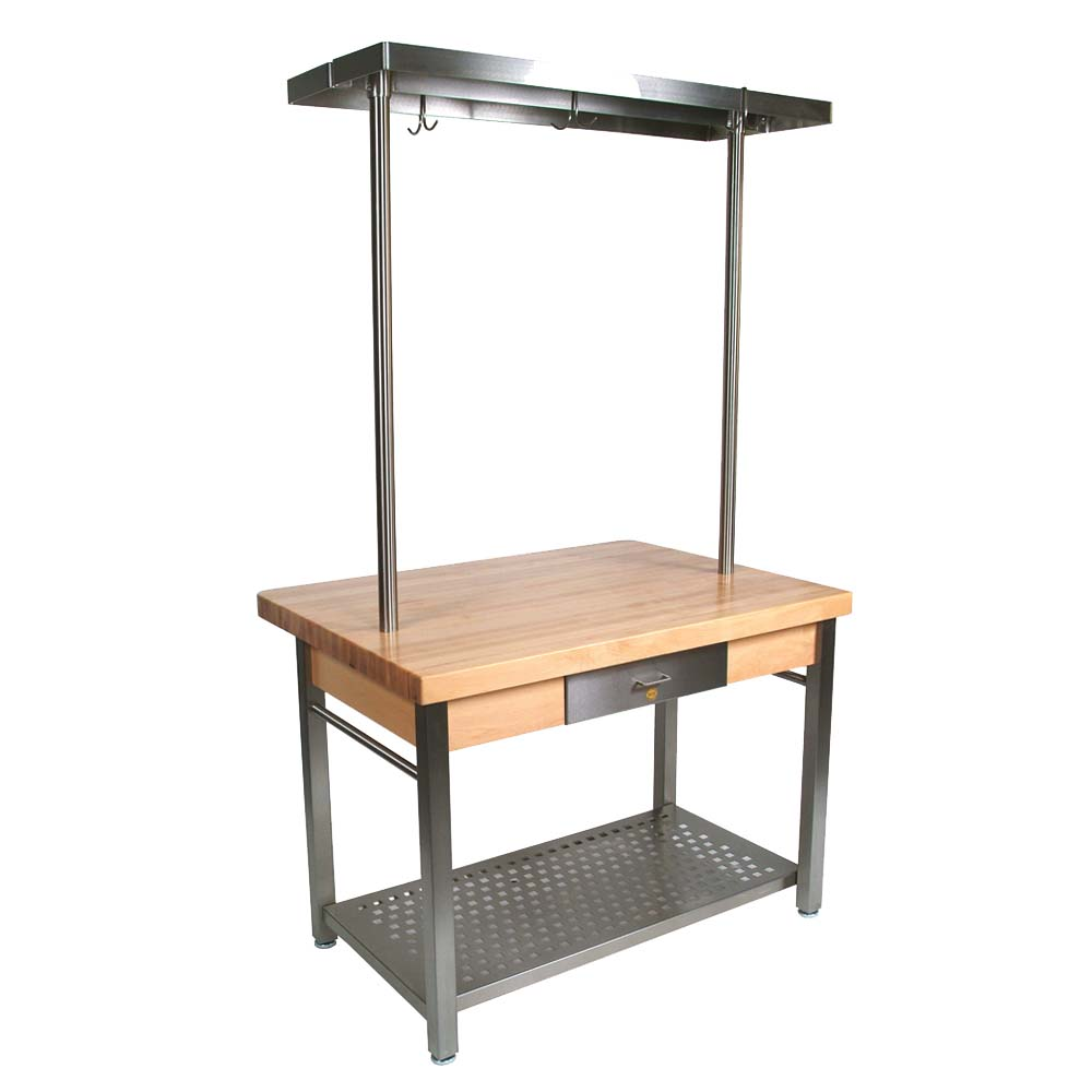 "Cucina 4 X 4 john boos cucg20 - cucina grande' work table, 48 x 28 x 35 inch, 2-1/4""  maple top"