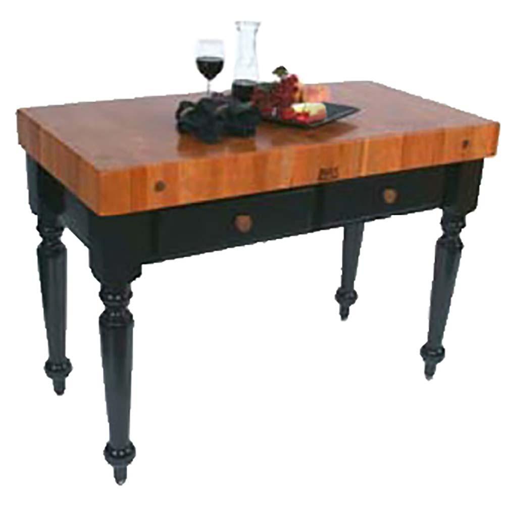 John Boos RN LR05   Rouge Et Noir Le Rustica Table, 24 X 48