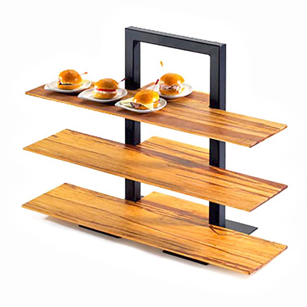 Cal-Mil 1464-48 - One Piece Brown Frame Riser, 18-1/4 x 11 x 25