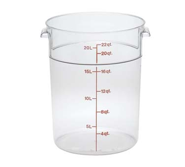RFSCW22135 Cambro Camwear Storage Container round 22 qt 13 12