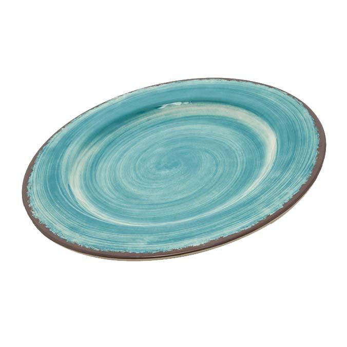 Carlisle 5400115 - Mingle Dinner Plate 11 inch dia. melamine aqua  sc 1 st  JES Restaurant Equipment & 5400115 Carlisle - Mingle Dinner Plate 11