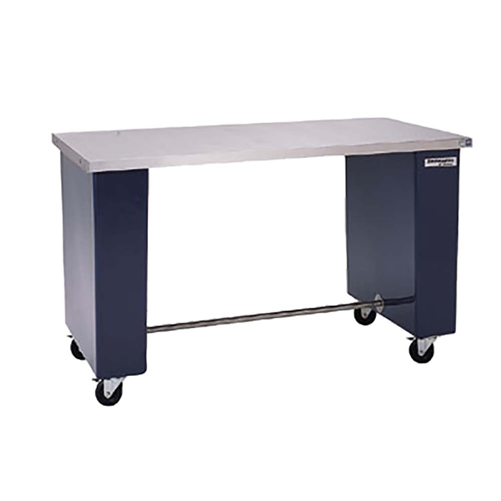 Delfield PWT Work Table Long Stainless Steel Top - Stainless steel open base work table