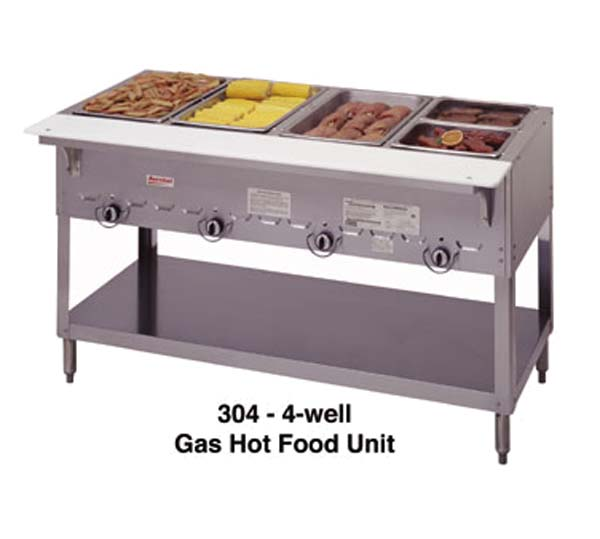 Duke Mfg Aerohot Steamtable Wells Gas - 4 well gas steam table