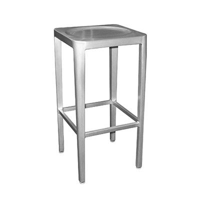 Fantastic Emu 1206 Anna Barstool Outdoor Indoor Backless Aluminum Seat Foot Rest Short Links Chair Design For Home Short Linksinfo