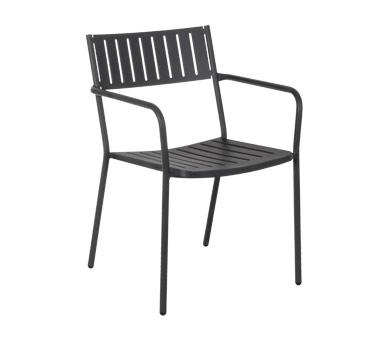 emu 147 bridge stacking armchair outdoor indoor steel slat back