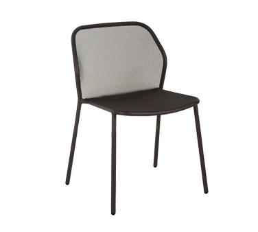 emu 521 darwin stacking side chair outdoor indoor steel mesh