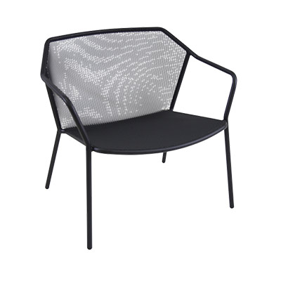 Etonnant EMU 524   Darwin Stacking Lounge Chair, Outdoor/indoor, Steel Mesh Seat And  Back