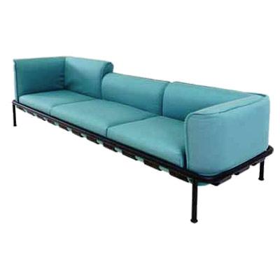 743 EMU - Dock Lounge Sofa Base, outdoor/indoor, aluminum frame