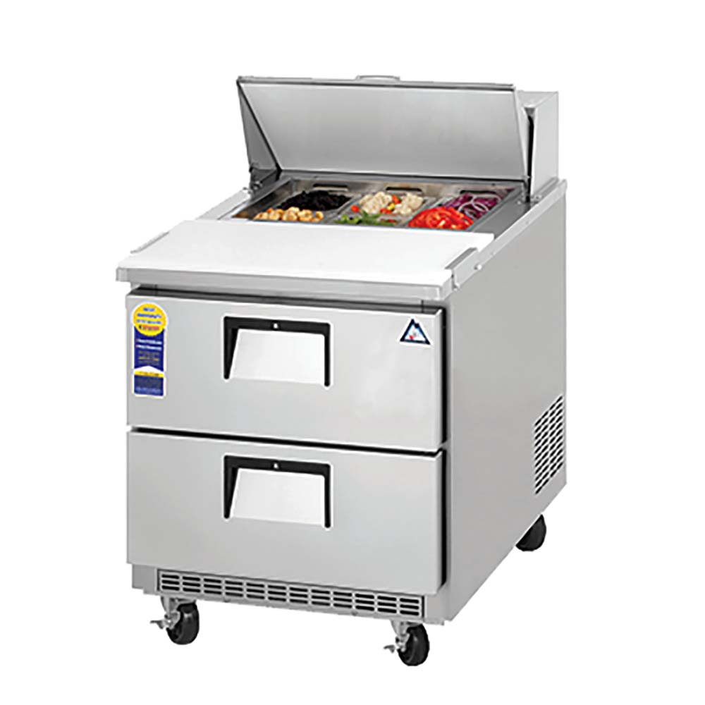 everest epbnr1d2 sandwich prep table 1section 805 cuft 8 16 pan 2 drawers - Sandwich Prep Table