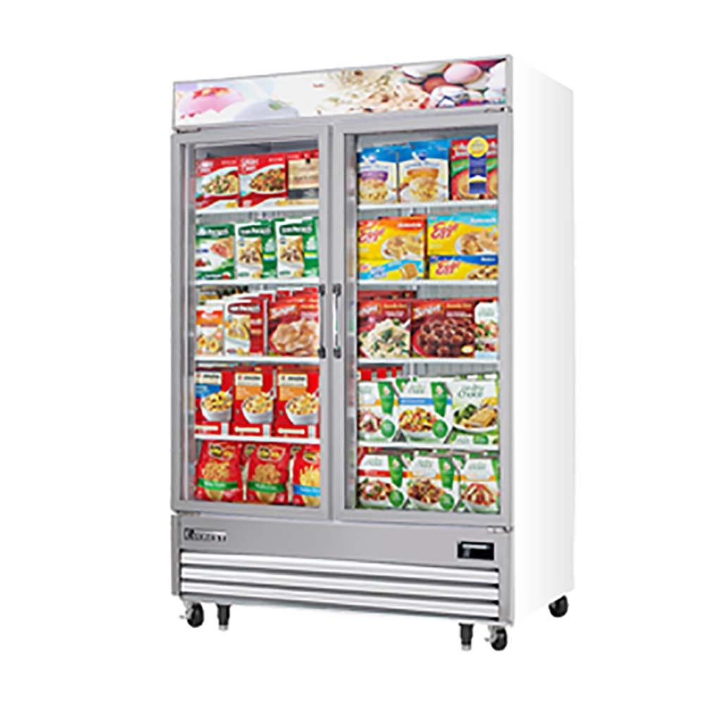 Everest Emgf48 Reach In Glass Door Ice Cream Freezer Merchandiser