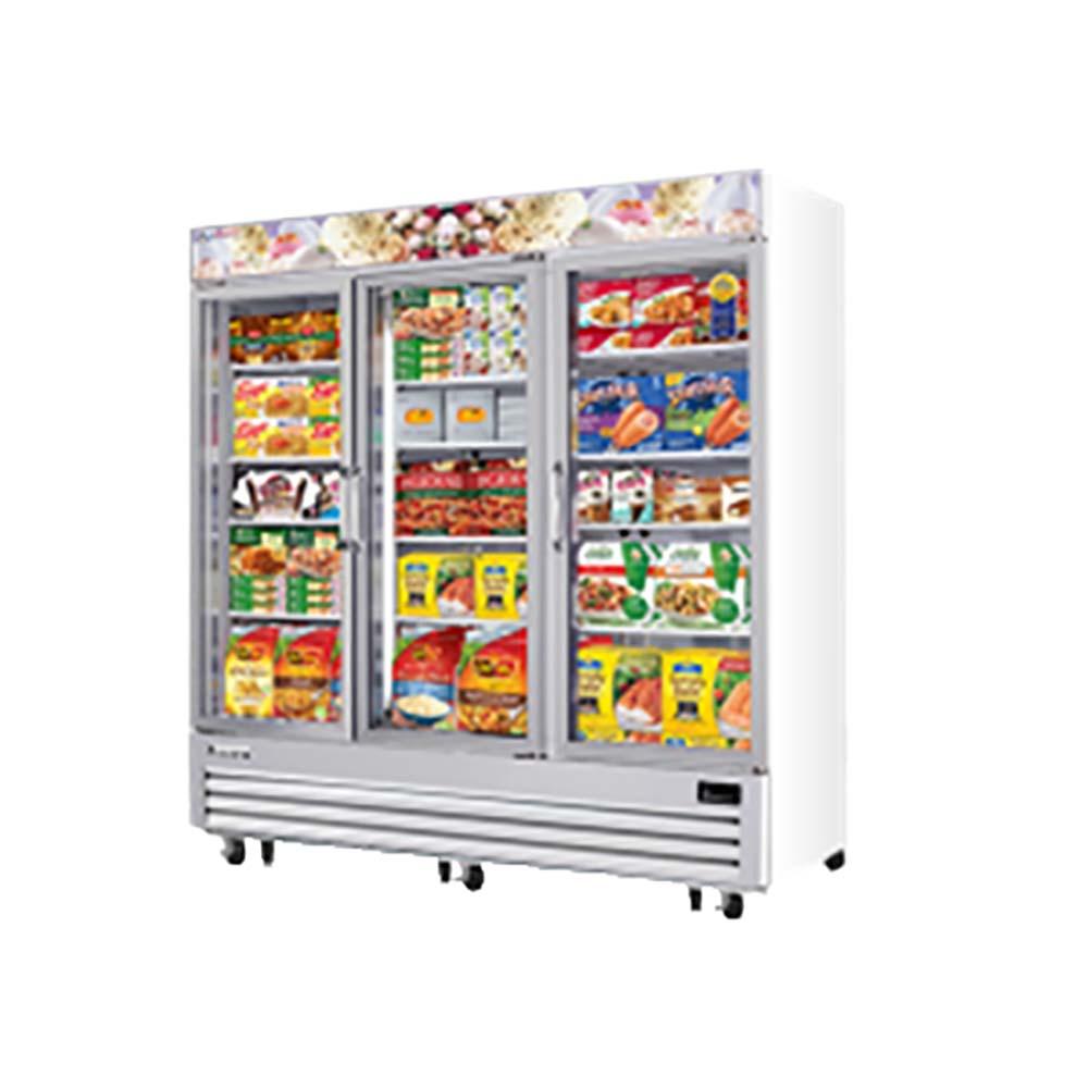 Everest Emgf69 Reach In Glass Door Ice Cream Freezer Merchandiser