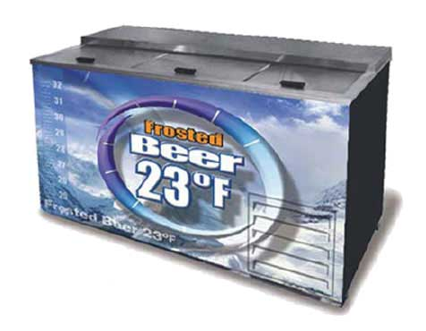 fogel refrigeration froster b 65 us beer merchandiser 3 section - Beer Merchandiser