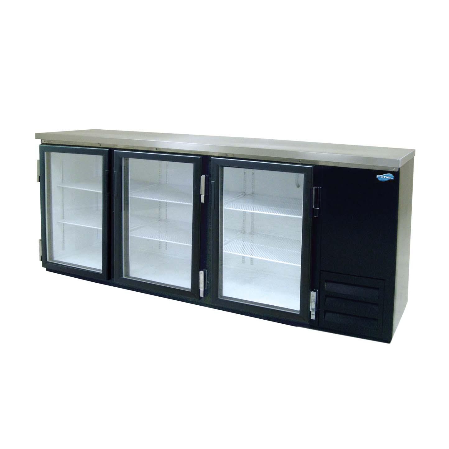 Fogel Refrigeration Mr 30 Gl Back Bar Cooler 3 Section