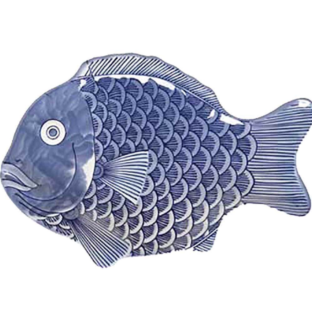 370 12 Bl G E T Enterprises Fish Platter 12 Blue