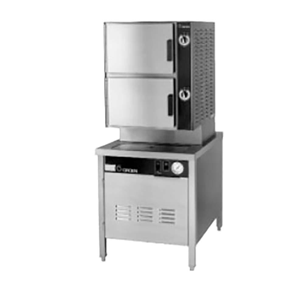 Groen HY 6SG 24   HyPlus Pressureless Steamer, Gas, 2 Compartments,