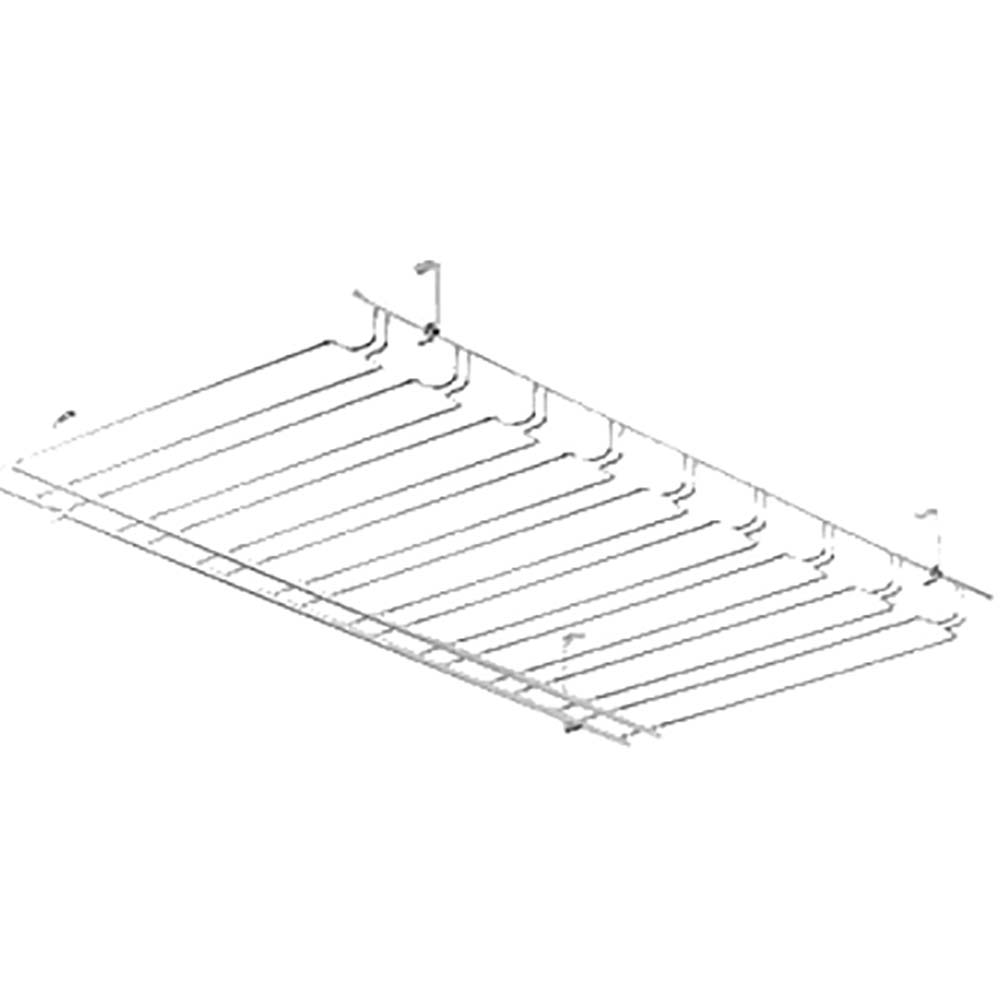 Browne halco 57184850 glass rack for 18 x 48 window