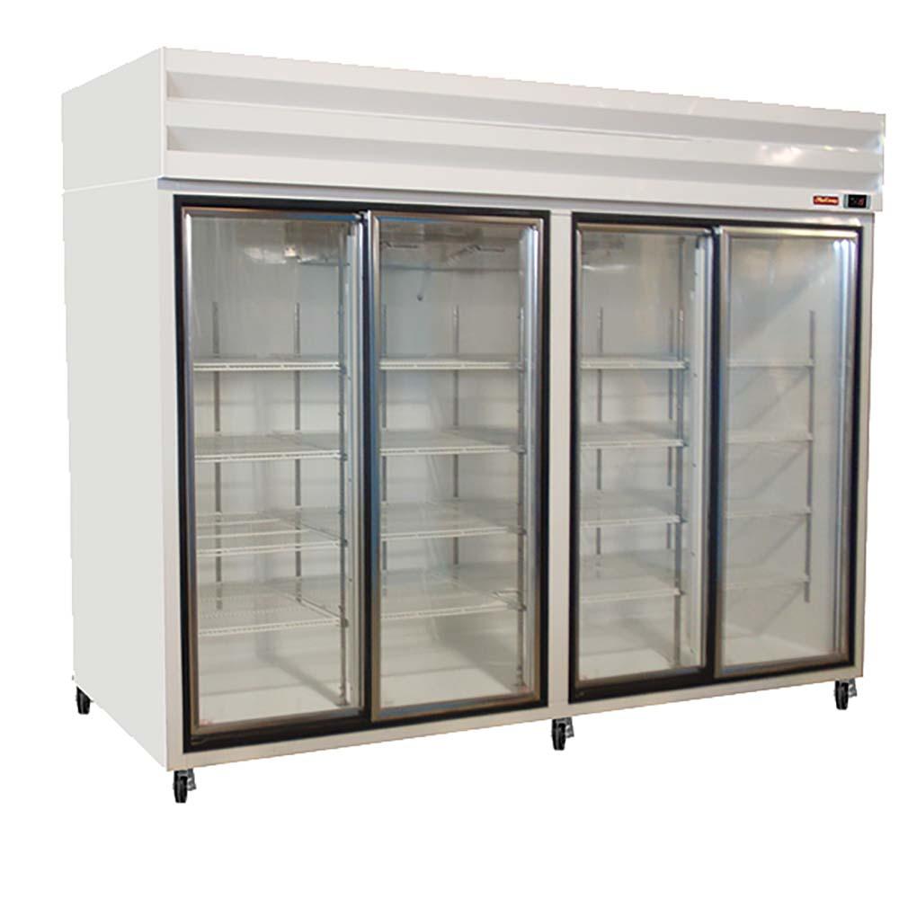 Howard McCray GSR102   Refrigerator Merchandiser, 4 Section, Sliding Doors