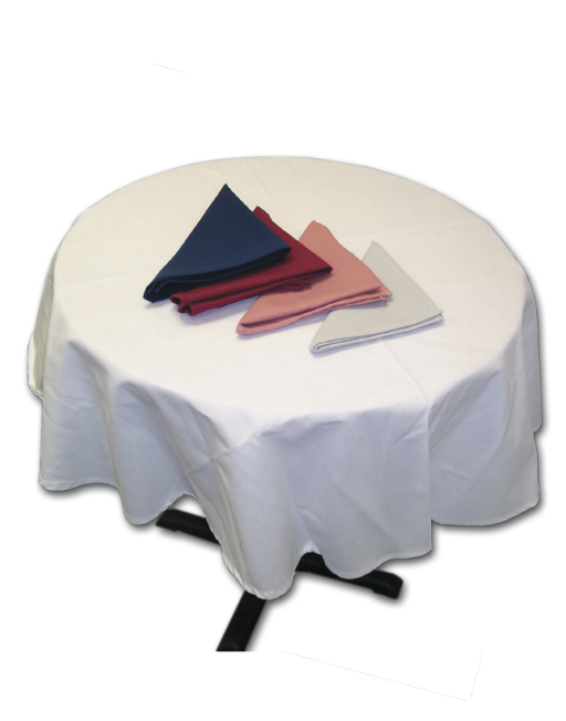 Intedge TCM90RN   Navy Blue Round Tablecloth, 90 In.