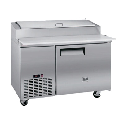 Kelvinator KCPT OneSection Refrigerated Stainless Steel Pizza - 6 foot stainless steel prep table