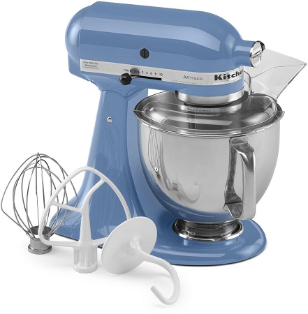 cornflower blue stand mixer