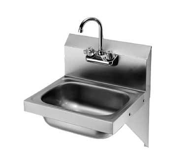 Hs 10 Krowne Hand Sink Wall Mount 16 W X 15 X 19 O A 8 H Backsplash 4 Gooseneck Faucet