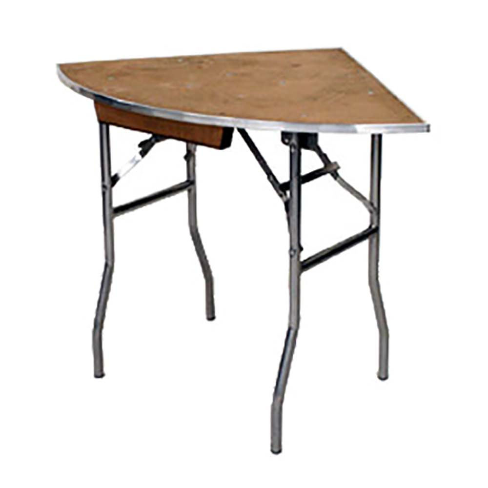 Maywood Mp36qrfld Quarter Round Folding Table 36 X 30 In