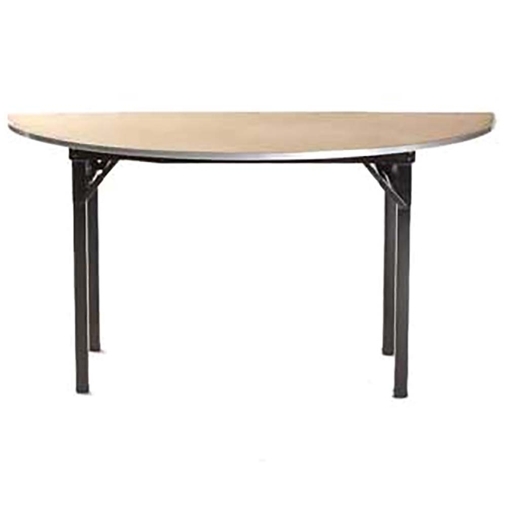 Maywood DPORIG84HR   Folding Table, Half Round, Plywood Top, 84 X 42 X 30  Inch