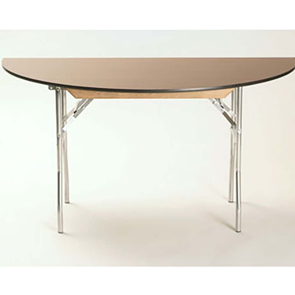 Maywood ML42HR   Folding Table, Half Round, Laminated Top, 42 X 21 X 30 Inch