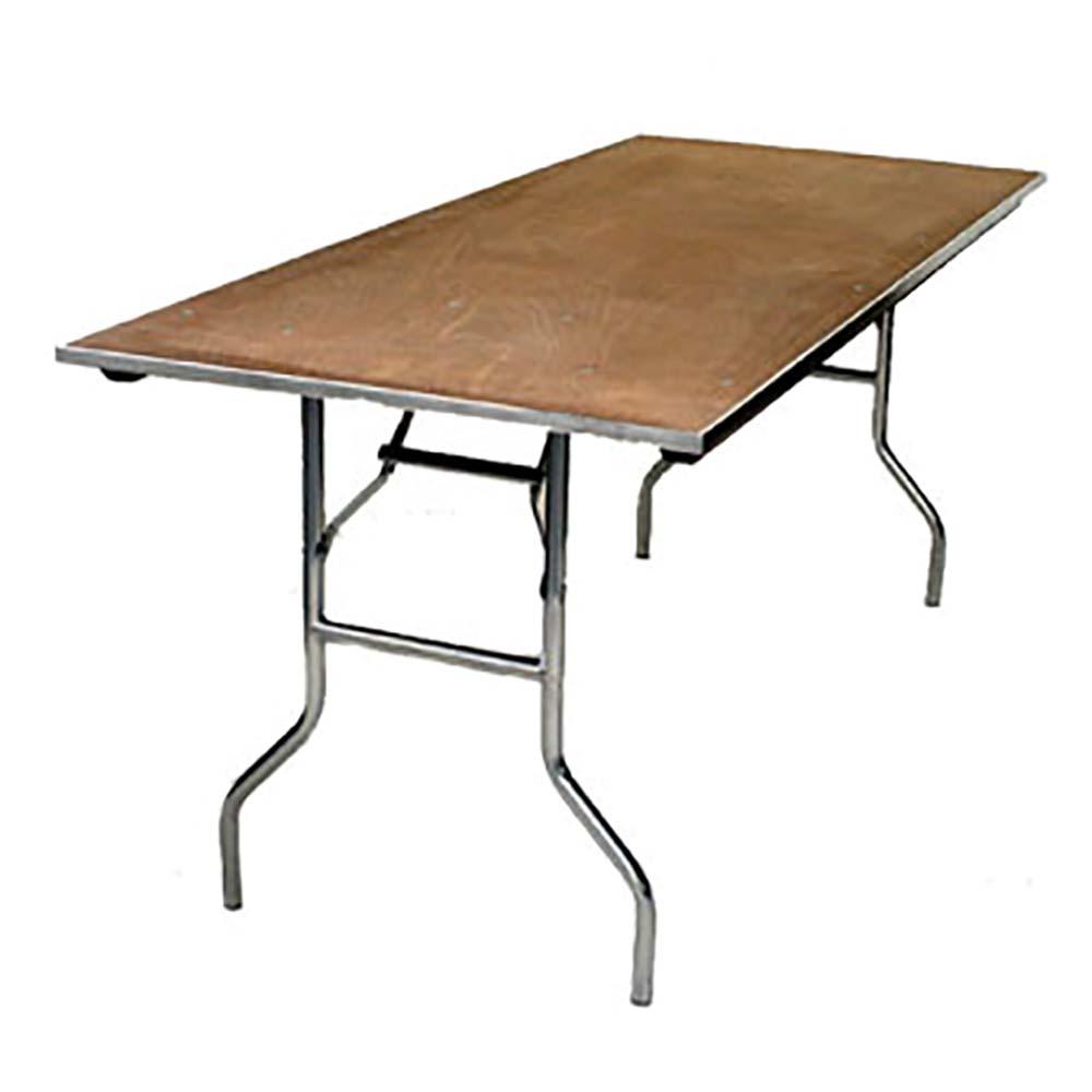 30 X 60 Folding Table.Maywood Mp3060 Rectangular Folding Table 60 X 30 X 30 Inch 5 8 Plywood Top