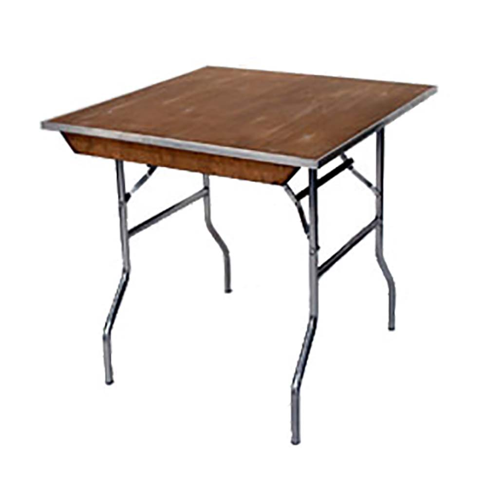 Maywood Furniture MPSQFLD Square Folding Table X X In - 72 x 72 square dining table