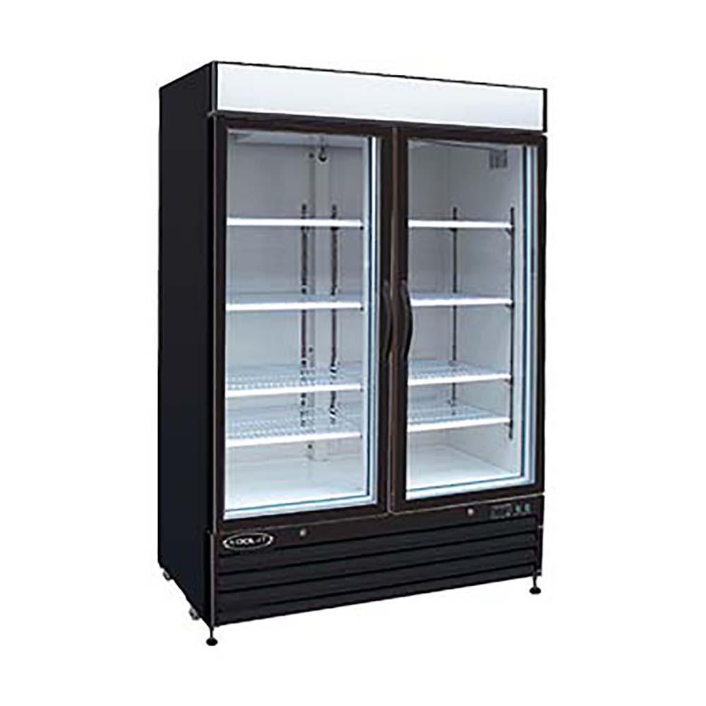 Mvp Kgf 48 Two Section Kgf Series Glass Door Freezer 48 Cu Ft