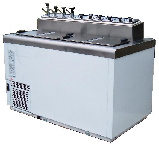 Beau Nelson Mfg. BDF8   FlavorRail Dipping Cabinet, (19) Tub Capacity
