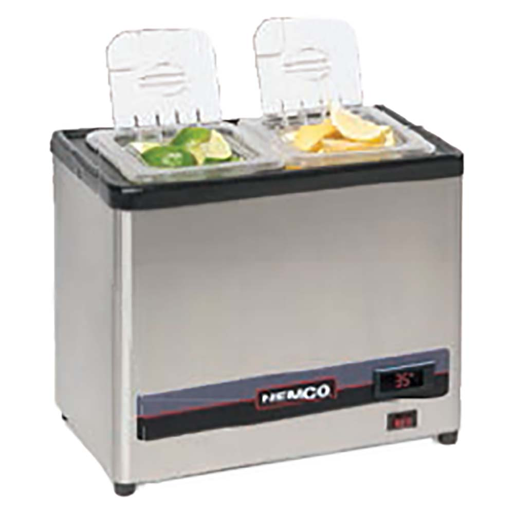 Nemco 9020 2   Cold Condiment Chiller, (2) 1/6 Stainless