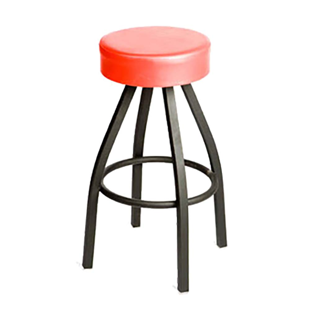 Oak Street Sl2132 Red Red Vinyl Bar Stool W Powercoated