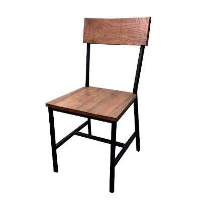 Oak Street CM W702 BLK   Timber Series Side Chair, Distressed Wood Back U0026  Seat, Sandex Finish, ...
